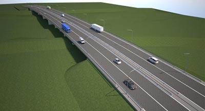 Il ponte sulla E763 Ljig - Serbija