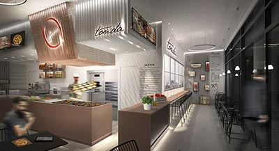 BIM Project of the TONDA Restaurant Franchising chain - Dubai UAE