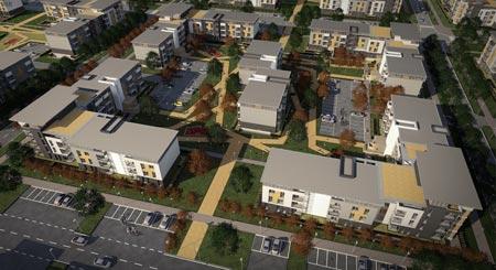 Progetto della citt� residenziale Ecopolis - Ryazan - Russia