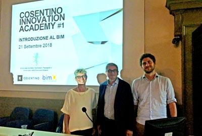 Introduzione al BIM Cosentino Innovation Accademy per l'Ordine degli Architetti di Brescia con bimO open innovation e bimON