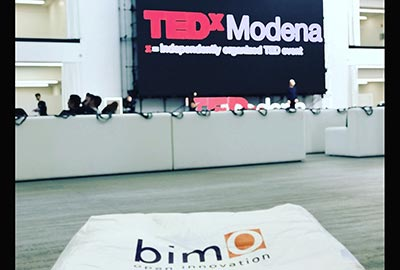bimO takes part in the TEDxwomen at the Florim Gallery in Fiorano Modenese with a corner on digital innovation