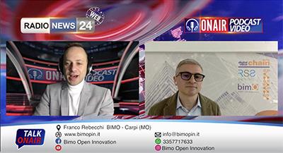 Intervista del GM di bimO open innovation Franco Rebecchi su RadioNew24 Talk On Air